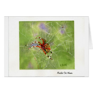 Orb-Weaver Spider Greeting Card