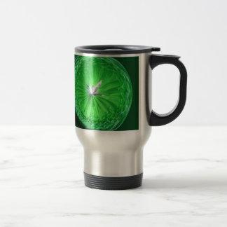 Orbe de cristal de la fantasía en verde taza térmica