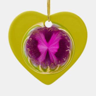Orbe de la amapola ornamento para arbol de navidad