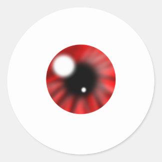 Orbe de Red Eye Pegatina Redonda