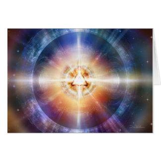 Orbe del triángulo de la estrella tarjeta de felicitación