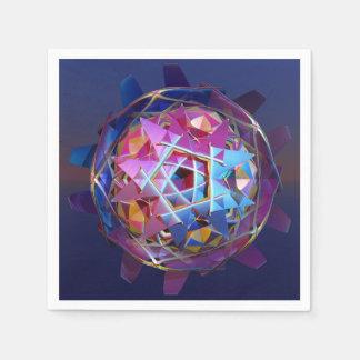 Orbe metálico colorido servilletas de papel