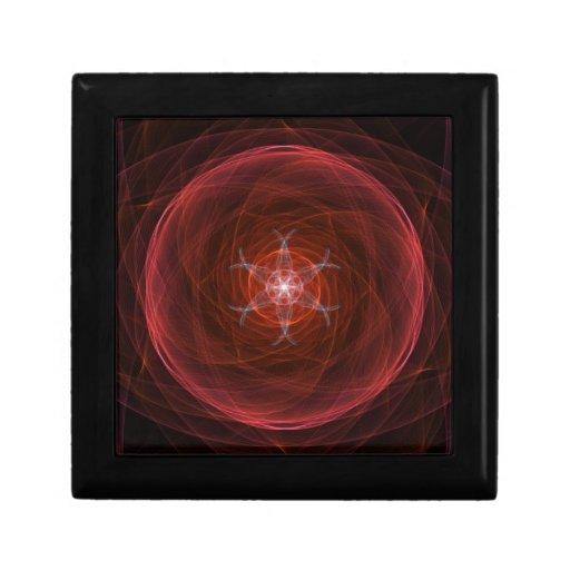 Orbe rojo cósmico caja de recuerdo