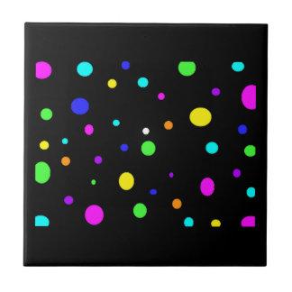 Orbe-teja coloreada azulejo cuadrado pequeño