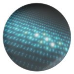 Orbes azules 3D Platos De Comidas