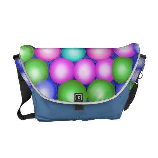 Orbes coloreados multi juguetones de la bolsa de m bolsas messenger
