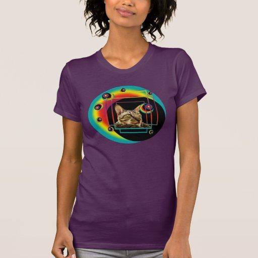 Orbes del gato de tigre de T-Shrit el   Camiseta