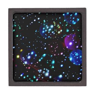 Orbes del planeta en extracto del espacio profundo caja de joyas de calidad