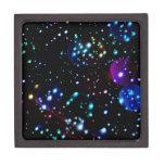 Orbes del planeta en extracto del espacio profundo cajas de joyas de calidad
