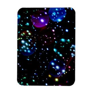 Orbes del planeta en extracto del espacio profundo iman de vinilo