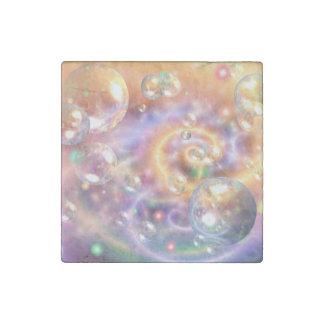 Orbes flotantes coloridos imán de piedra