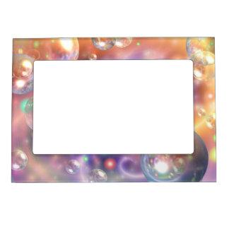 Orbes flotantes coloridos marcos magnéticos de fotos