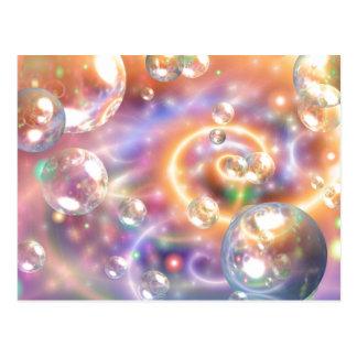 Orbes flotantes coloridos postales