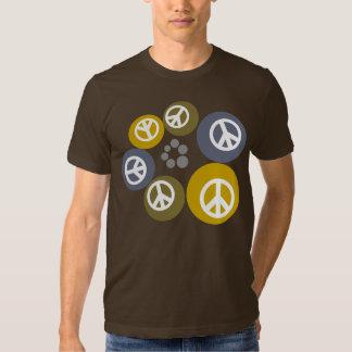 Orbes flotantes de la camiseta de la paz poleras