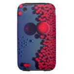 Orbes rojos iPhone 3 tough fundas