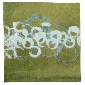 Orbes verdes I Servilletas Imprimidas