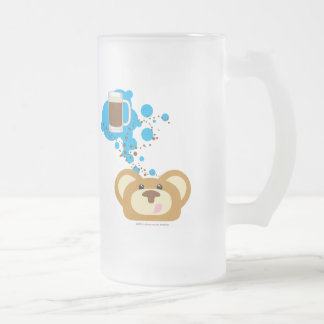 orbie bear thinking of rootbeer float frosted beer mugs