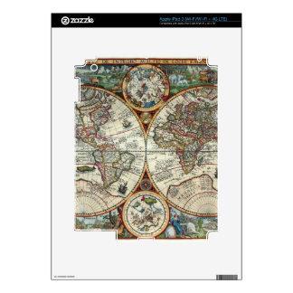Orbis Terrarum 1594 - Famous World Map Decals For iPad 3