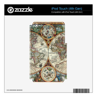 Orbis Terrarum 1594 - Famous World Map Decals For iPod Touch 4G