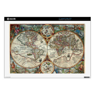 Orbis Terrarum 1594 - Famous World Map Decals For Laptops