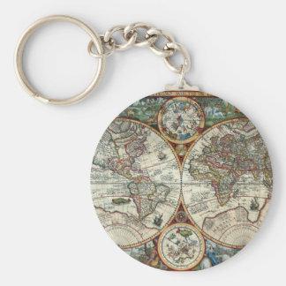 Orbis Terrarum 1594 - Famous World Map Keychain