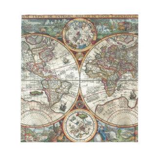 Orbis Terrarum 1594 - Famous World Map Notepad