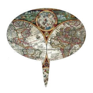 Orbis Terrarum 1594 - mapa del mundo famoso Decoraciones Para Tartas