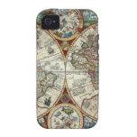 Orbis Terrarum 1594 - mapa del mundo famoso iPhone 4 Carcasas