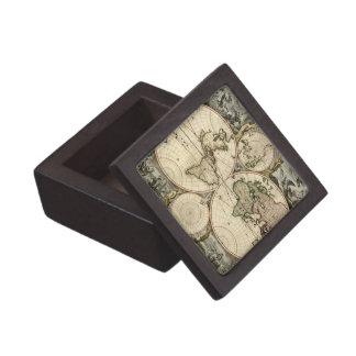 Orbis Terrarum Nova y Accuratissima Tabula Caja De Recuerdo De Calidad