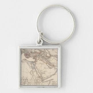Orbis terrarum regni Assyrii tempore Silver-Colored Square Keychain