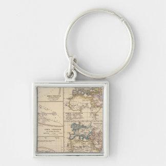 Orbis terrarum Silver-Colored square keychain