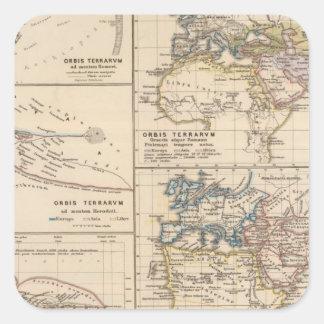 Orbis terrarum square sticker