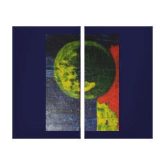 Orbit In Space Canvas Print