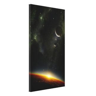 Orbit of an alien planet canvas print