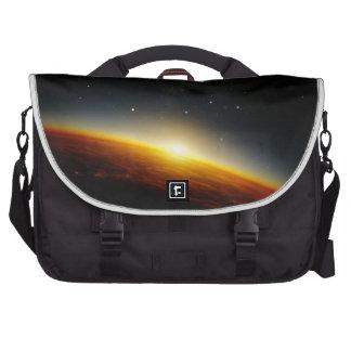Orbit of an alien planet laptop commuter bag