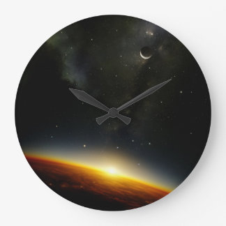 Orbit of an alien planet large clock