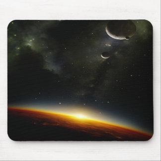 Orbit of an alien planet mouse pads