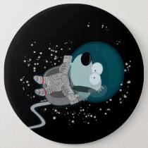 Orbit Space Dog Blissfully in Orbit Button
