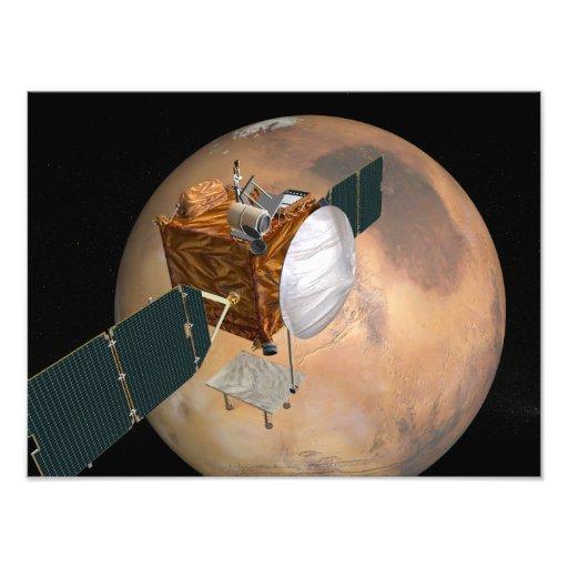 Órbita de las telecomunicaciones de Marte Impresiones Fotograficas