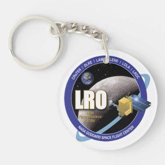Órbita lunar del reconocimiento llavero redondo acrílico a doble cara