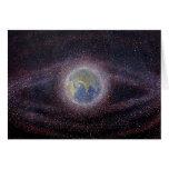 Orbital Debris Painting Greeting Card