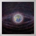 Orbital Debris / Space Junk Painting Poster Print