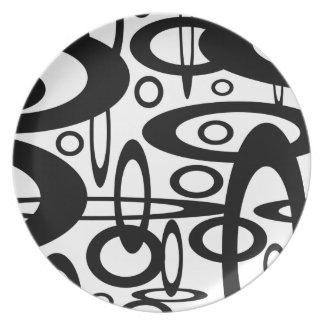 Orbital Designer Abstract Dinnerware - Plate