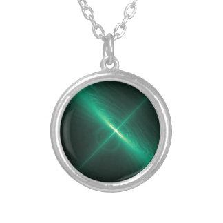 orbital round pendant necklace