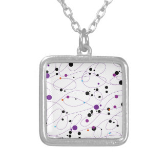 Orbital Square Pendant Necklace