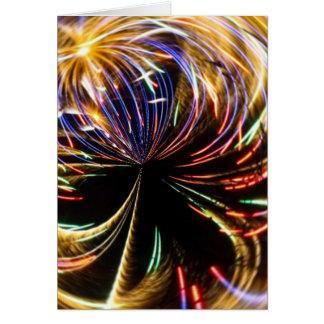 Orbitario II de los fuegos artificiales Felicitación