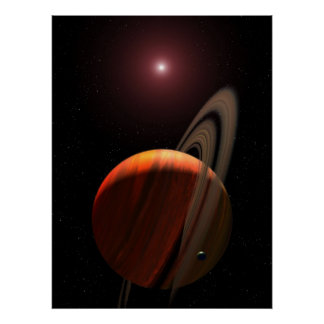 Orbiting a Red Dwarf Star Poster