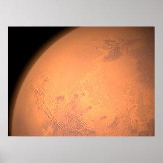 Orbiting Above Valles Marineris Poster