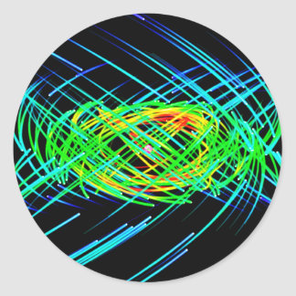Orbiting Light Streaks Stickers