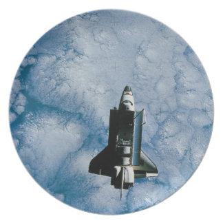Orbiting Space Shuttle Dinner Plate